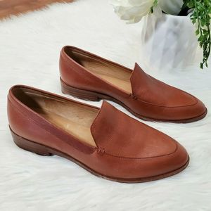 Madewell Frances Leather Loafers 6 Brown $148